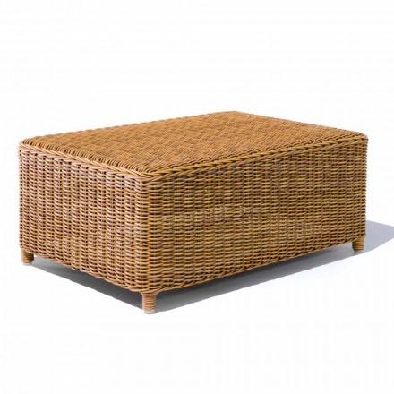 Table basse de jardin en rotin synthétique tissé - Yves