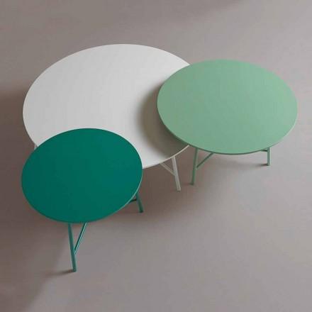 Table basse design ronde moderne colorée pour salon - Boogie