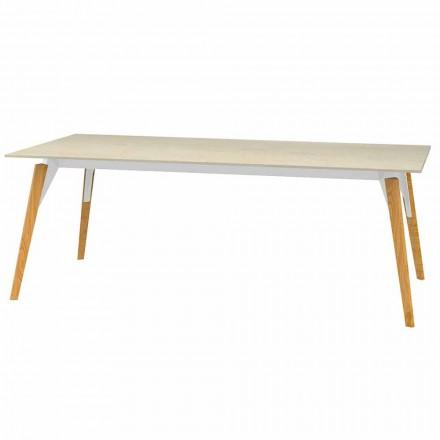 Table basse avec plateau effet marbre, 3 couleurs 2 tailles - Bois Faz - Vondom