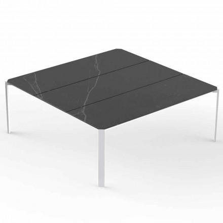Table Basse de Jardin Carrée, Plateau Effet Marbre - Tablette - Vondom