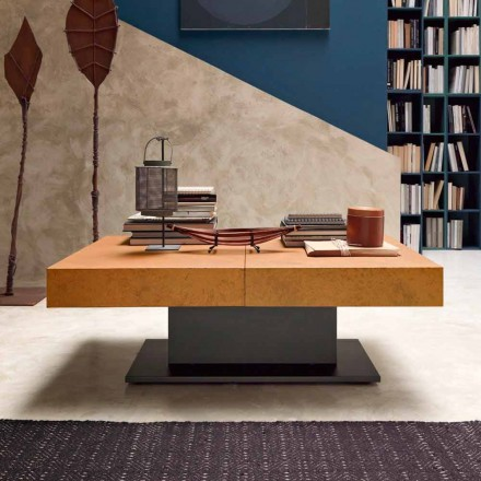 Table basse transformable avec plateau effet mortier Made in Italy - Romantique