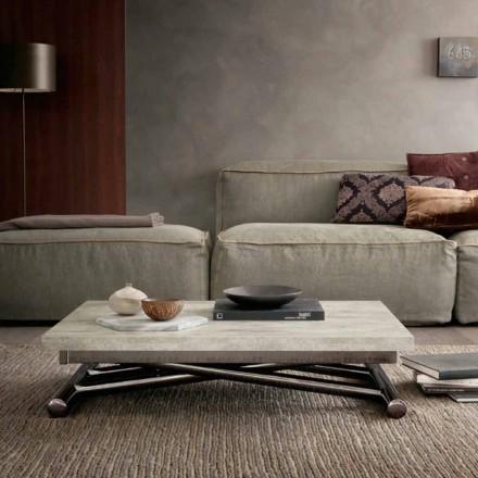 Table basse transformable moderne en bois et métal fabriquée en Italie - Gabri