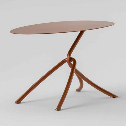 Table basse d'extérieur précieuse en métal peint Made in Italy - Lubeck
