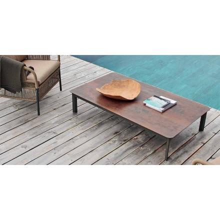 Table basse d'extérieur de design en aluminium peint Varaschin System