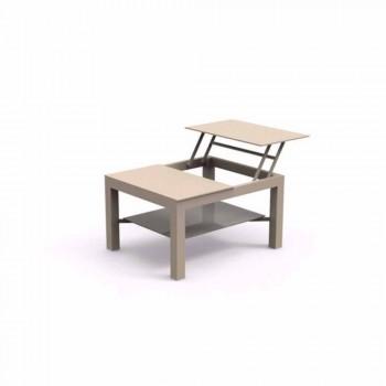 Ouverture de la table de jardin moderne avec verre plat sérigraphié Chic Petit