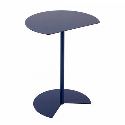 Table basse de jardin en métal coloré de conception moderne en 3 tailles - Cettina