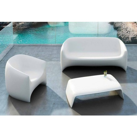 Table basse de jardin en polyéthylène Blow Vondom, design moderne