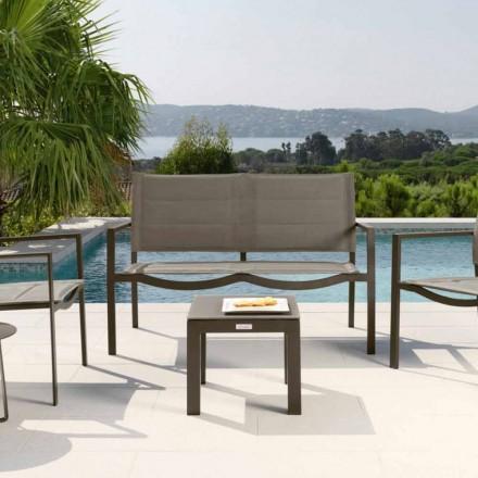 Table basse de jardin en aluminium et textilène Touch