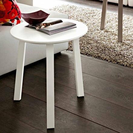 Table basse avec plateau rond en Fenix Made in Italy, Precious - Tobiko