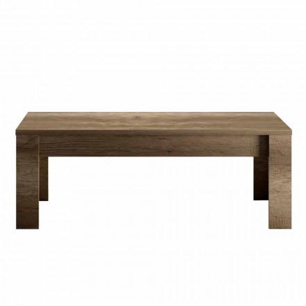 Table basse design en chêne ou mélaminé blanc Made in Italy - Terno