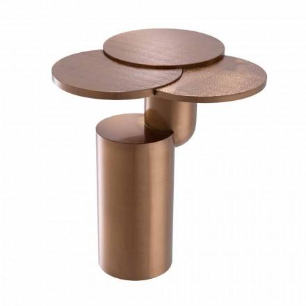 Table basse design en acier finition cuivre brossé - Olbia