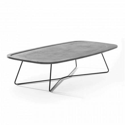 Table basse en ciment avec structure métallique Made in Italy - Evolve