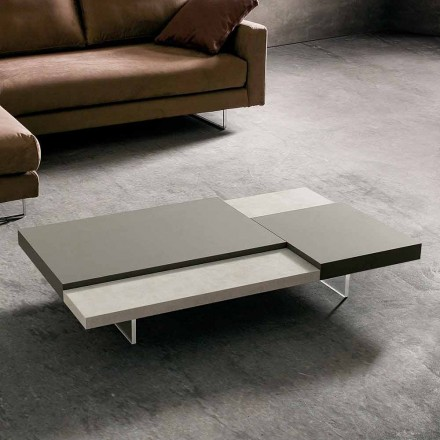 Table basse Fenix avec pieds transparents Made in Italy - Justin