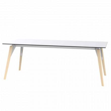 Table basse en stratifié blanc ou noir en 2 tailles - Faz Wood par Vondom