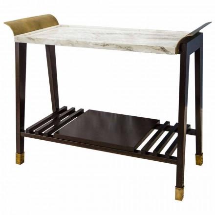 Table Basse Cerise, Marbre et Laiton Fabriquée en Italie - Barto