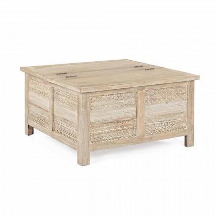Table basse Homemotion en manguier avec conteneur - Mixo