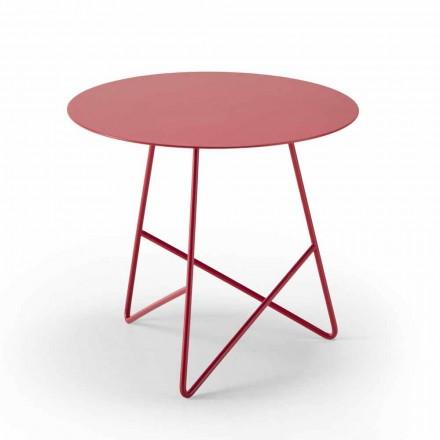 Table basse en métal coloré et 3 dimensions, fabriquée en Italie - Magali