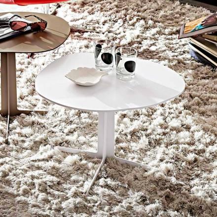 Table basse en métal avec plateau en forme fabriquée en Italie - Samanta