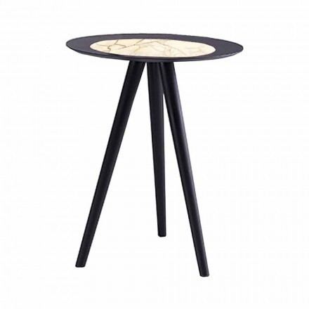 Table basse moderne avec plateau rond en grès Made in Italy - Stuttgart