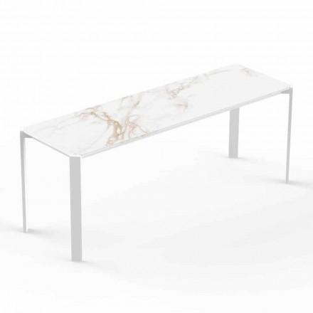 Table basse moderne d'intérieur ou d'extérieur en aluminium - Tablette par Vondom