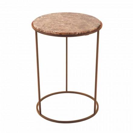 Table basse ronde moderne en métal et marbre de haute qualité - Raphael