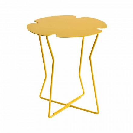 Table basse d'extérieur en métal coloré de conception moderne - Kathrin