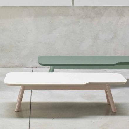 Table basse précieuse en bois de frêne massif fabriqué en Italie - Ulm