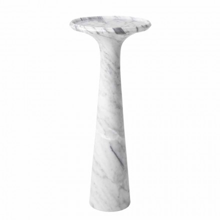 Table basse design ronde en marbre blanc de Carrare - Udine