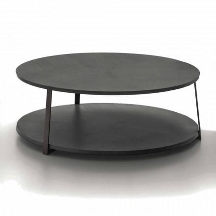 Table basse ronde en MDF avec structure en métal Made in Italy - Aloe