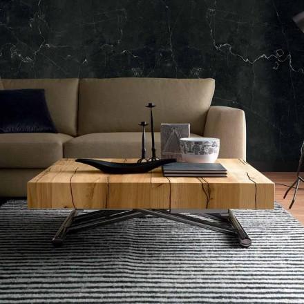 Table basse transformable en bois massif fabriquée en Italie - Trabucco