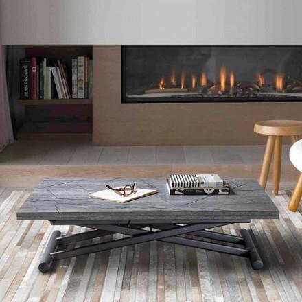 Table basse transformable en métal avec plateau en mélamine - Sandero