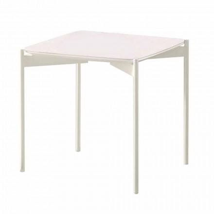Table basse carrée en céramique et métal au design moderne - Porc-épic