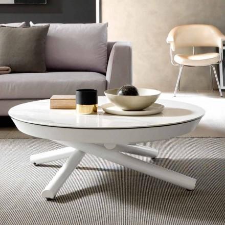 Table basse en céramique transformable en table à manger Made in Italy - Azelio