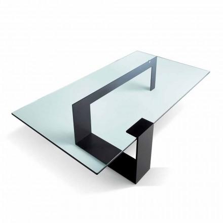 Table Basse en Verre Extralight Design Moderne Fabriquée en Italie - Scoby