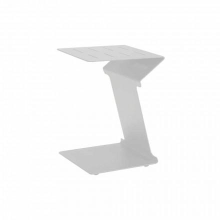 Table d'appoint pour canapé d'extérieur en aluminium blanc ou anthracite - Deniz