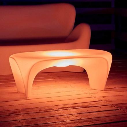 Table basse lumineuse RVB pour design extérieur ou intérieur en plastique - Lily par Myyour