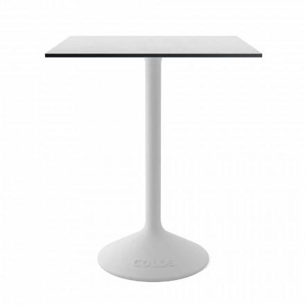 Table basse moderne en fonte et HPL pour l'extérieur Made in Italy - Colby