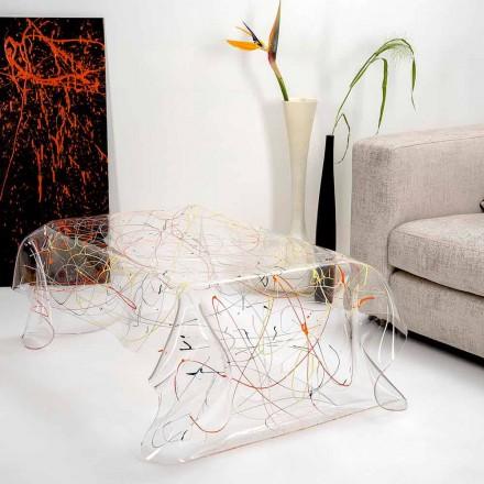 Table moderne en plexiglas multicolore fabriqué en Italie, Asie