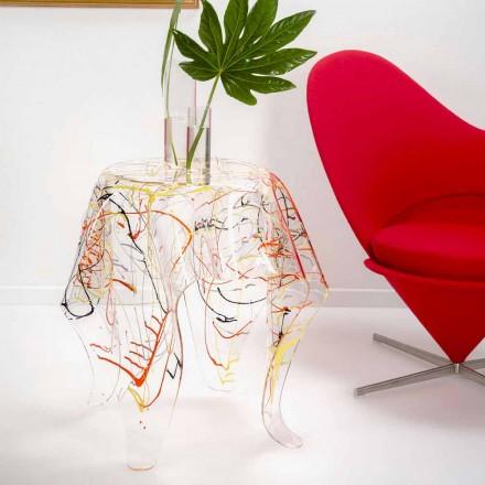 Table basse moderne en plexiglas multicolore fabriquée en Italie, Otto