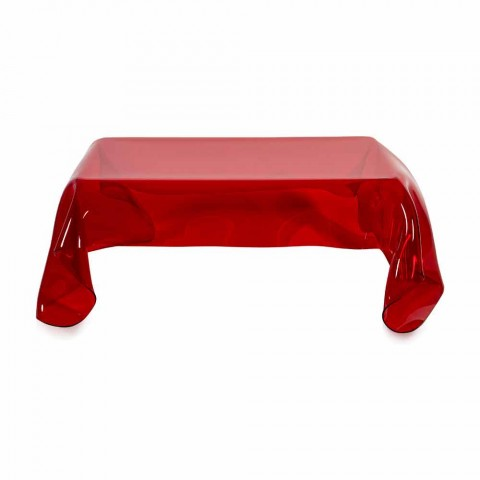 Table Basse En Plexiglas Rouge Au Design Moderne Asia Made In Italy