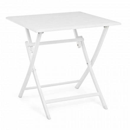 Table basse extérieure pliante carrée en aluminium peint - Hunt
