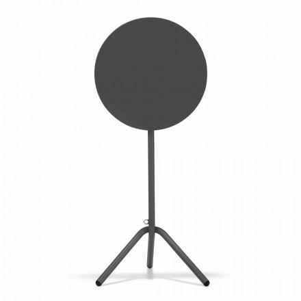 Table d'extérieur haute ronde en métal et tôle Made in Italy - Baldric