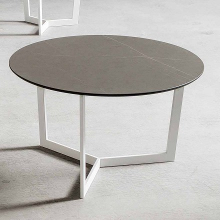 Table basse ronde avec plateau en Hpl Made in Italy - Mina