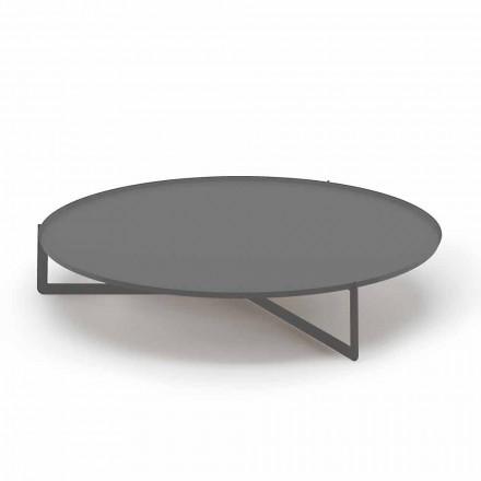 Table basse d'extérieur ronde en métal de haute qualité Made in Italy - Stephane