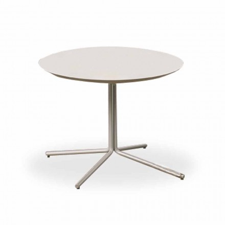 Table basse ronde en MDF blanc de design moderne 2 tailles - Geone