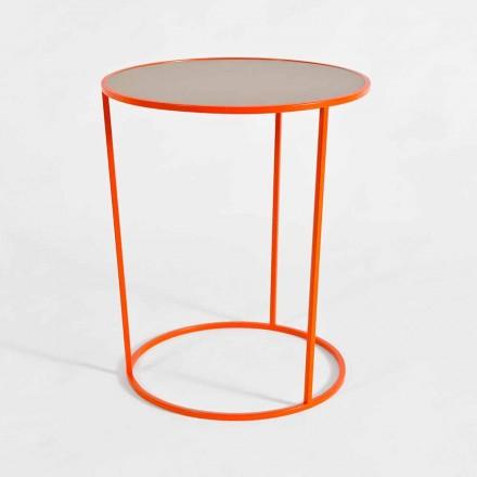 Table basse ronde moderne en métal coloré Made in Italy - Raphael