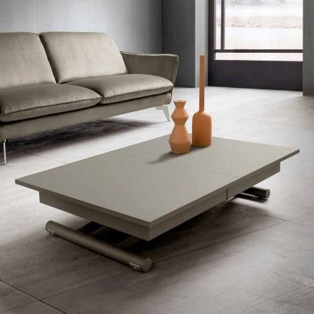 Table basse de salon transformable en Fenix et métal Made in Italy - Chiano