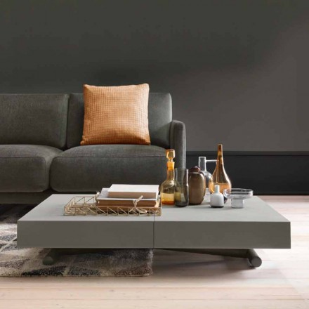 Table basse transformable moderne avec plateau effet Malta Made in Italy - Patroclus