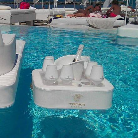 Plateau flottant pour piscine moderne Trona en simil cuir nautique