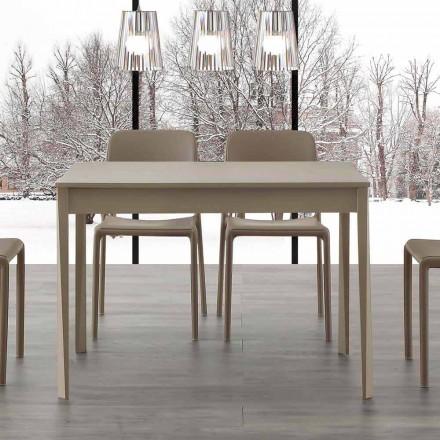 Table à rallonge de salle à manger Empoli, avec pieds en bois massif